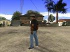 CJ в футболке (Crow) для GTA San Andreas вид сверху