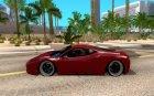 Ferrari 458 F142 for GTA San Andreas left view