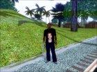 """Футболка """"Paul Walker"""" для GTA San Andreas вид сзади слева"""