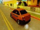 Lada Granta Taxi для GTA San Andreas вид слева