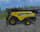 New Holland CR9.90 Yellow для Farming Simulator 2015 вид слева