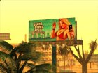GTA 5 Girl Poster billboard для GTA San Andreas вид изнутри