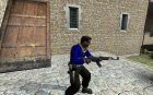 Simple blue L33T for Counter-Strike Source left view