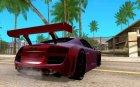 Audi R8 LMS для GTA San Andreas вид сверху