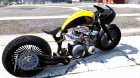 Honda CB750 Bagger 1.0 for GTA 5 back view