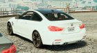 BMW M4 F82 for GTA 5 rear-left view