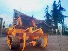 HVY Bulldozer GTA V Next Gen для GTA San Andreas вид сзади слева