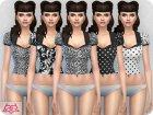 Matilde blouse RECOLOR 2 для Sims 4 вид слева