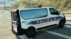 Opel Vivaro Police Nationale for GTA 5 rear-left view