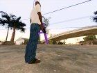 Фиолетовый MP5 for GTA San Andreas inside view