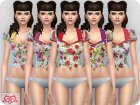 Matilde blouse RECOLOR 1 для Sims 4 вид сзади слева