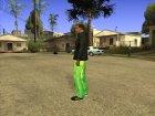 Огуречные штанишки для GTA San Andreas вид сверху