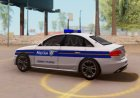 Audi S4 - Croatian Police Car для GTA San Andreas вид сзади слева
