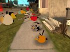 Orange Bird from Angry Birds для GTA San Andreas вид слева
