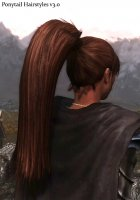 Ponytail Hairstyles для TES V Skyrim вид сбоку