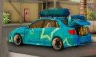 Subaru Impreza Blue Star for GTA San Andreas side view