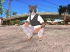Skin HD GTA V Online 2015 в маске кота для GTA San Andreas вид слева