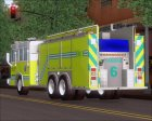 Pierce Quantum Miami Dade Fire Department Tanker 6 для GTA San Andreas вид сбоку