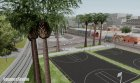 New basketball court NXT for GTA San Andreas rear-left view