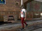 Skin HD GTA V Online парень в маске волка for GTA San Andreas rear-left view