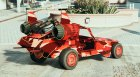 Red Military Camo - SpaceDocker - PaintJob for GTA 5 top view