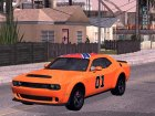 2017 Dodge Challenger Demon для GTA San Andreas вид сзади