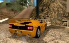 Ferrari F50 Spider 1995 for GTA San Andreas top view