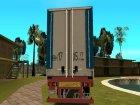 Прицеп для МаЗа компании БелТрансМаз для GTA San Andreas вид сзади слева