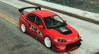 Mitsubishi Lancer Evolution IX FNF v1.0 для GTA 5 вид сверху
