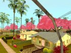 Japanese Castle CJ House and Beautiful Sakura Trees для GTA San Andreas вид сзади