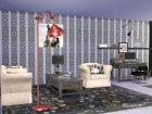 Living Pottery Barn для Sims 4 вид сверху