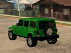 Jeep Wrangler Unlimited Rubicon 2013 для GTA San Andreas вид сверху