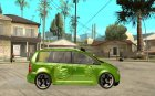 Volkswagen Touran The Hulk for GTA San Andreas inside view