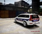 Volvo Police National for GTA 4 rear-left view