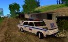 ВАЗ 2107 ДПС для GTA San Andreas вид сбоку