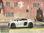 2017 Audi R8 1.1 for GTA 5 back view