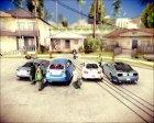 Пак машин,одежды,скинов By Vanoss- для GTA San Andreas вид сзади слева