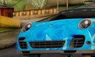Porsche 911 Turbo Blue Star for GTA San Andreas back view