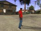 CJ в футболке (K Rose) for GTA San Andreas rear-left view