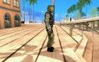 Скин бойца Альфы для GTA San Andreas вид сверху