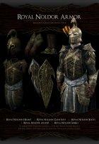 Noldor Content Pack - Нолдорское снаряжение 1.02 для TES V Skyrim вид слева
