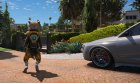 Rocket Raccoon from Guardians of the Galaxy для GTA 5 вид сзади слева