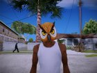 Owl mask (GTA V Online) для GTA San Andreas вид слева