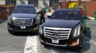 Cadillac Escalade FBI Petrol Vehicle 2015 FINAL для GTA 5 вид сзади слева
