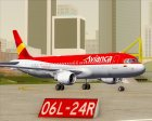 Airbus A320-200 Avianca for GTA San Andreas side view