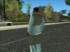 Adidas Suit Shirt Grey Blue для GTA San Andreas вид слева