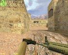 SCAR-L с голографическим прицелом для Counter-Strike 1.6 вид сзади слева