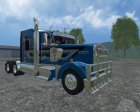 Kenworth W900L for Farming Simulator 2015 rear-left view
