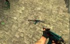 CS:S AK-47 leopard (no Real) for Counter-Strike Source top view