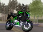 Kawasaki Z800 Monster Energy для GTA San Andreas вид изнутри